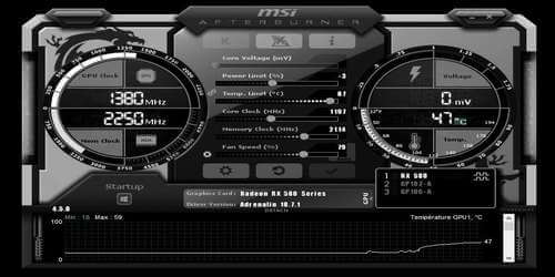 Logiciel d'overclocking MSI Afterburner