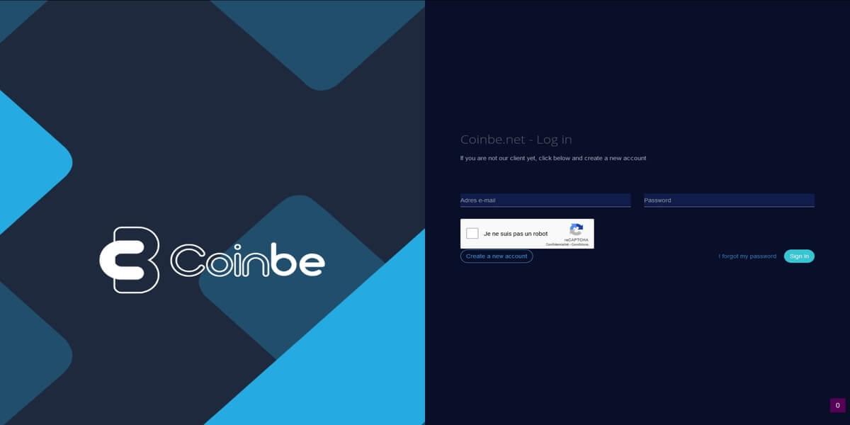 Coinbe login
