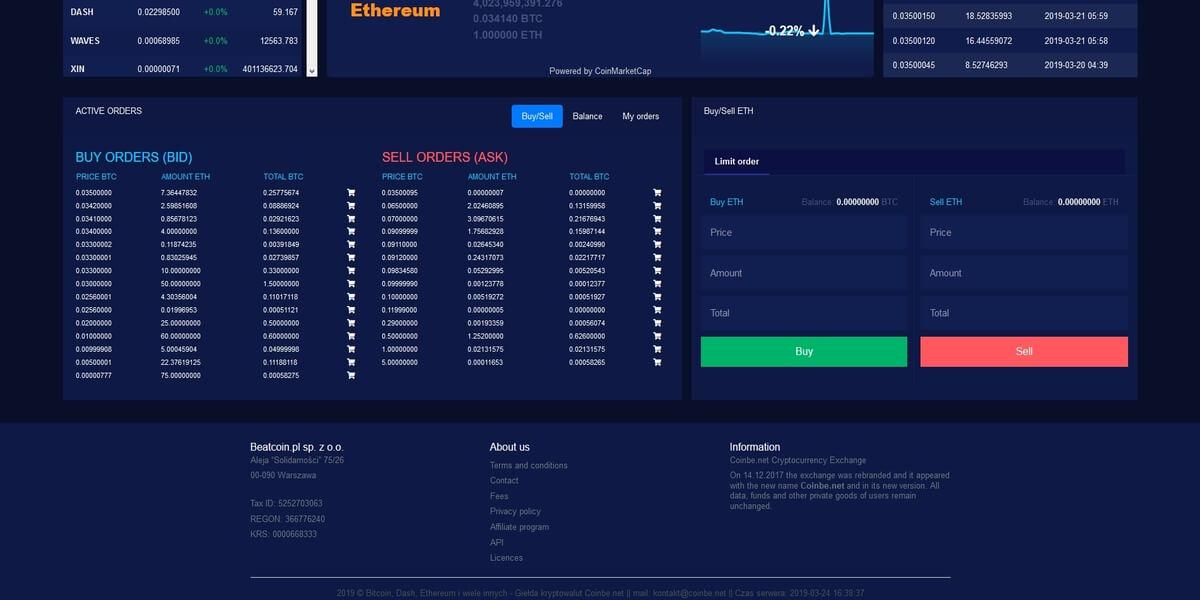 Coinbe plateforme de trading 2/2