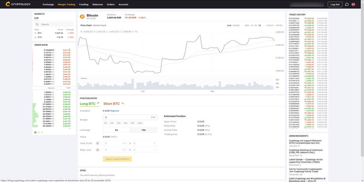 Trading sur marge Cryptology
