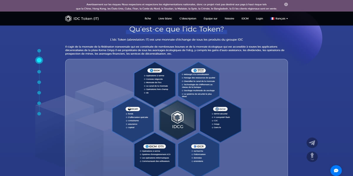 Presentation de IDCG et de IT token