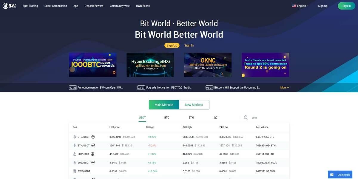 Acheter des cryptomonnaies sur BW.com