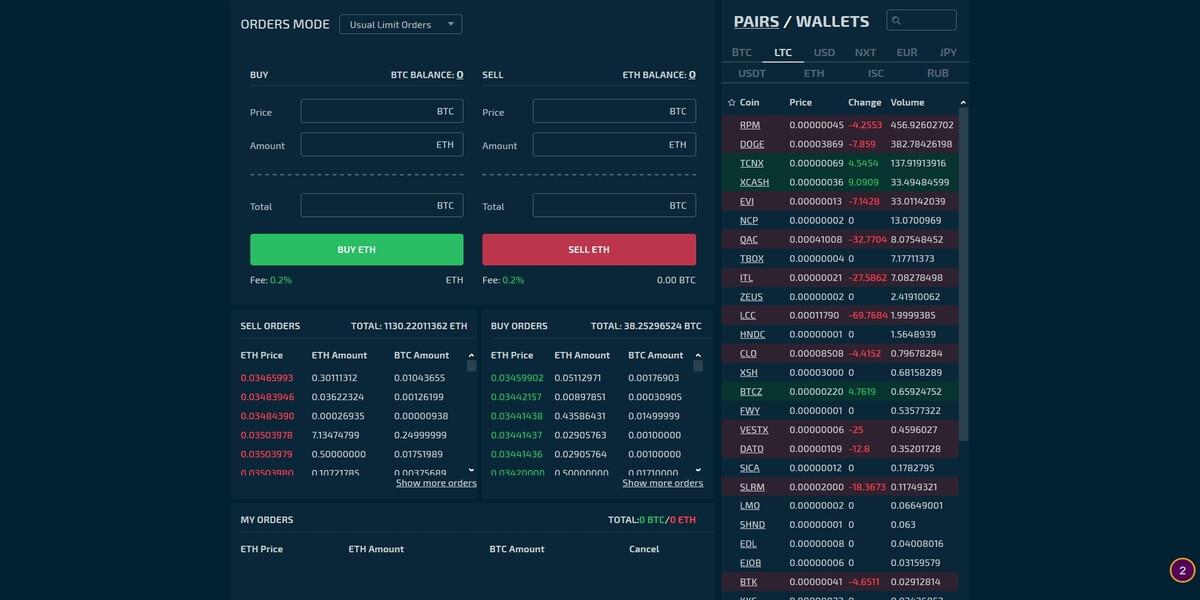 Plateforme de trading STEX
