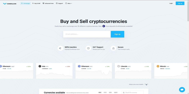 Acheter des cryptomonnaies chez CoinFalcon