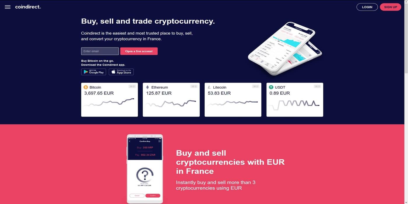Acheter des cryptomonnaies chez Coindirect