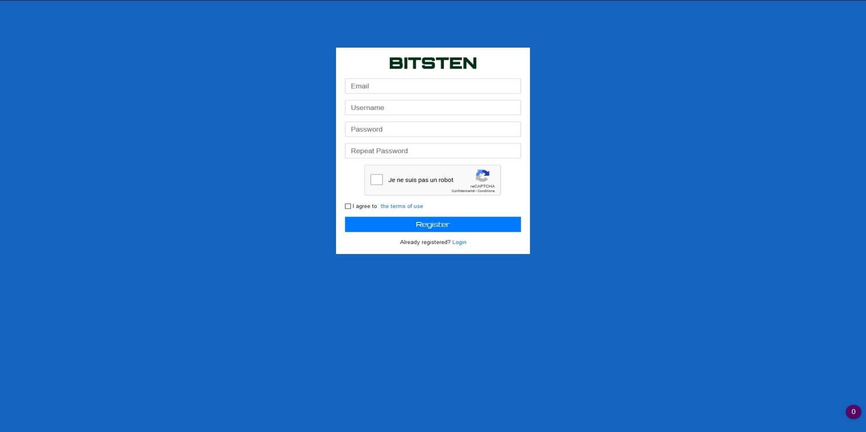 Ouvrir un compte chez Bitsten