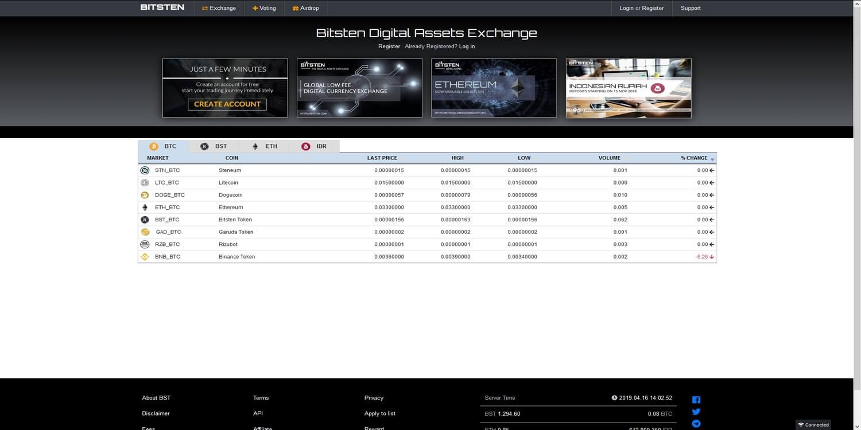 Acheter des cryptomonnaies chez Bitsten