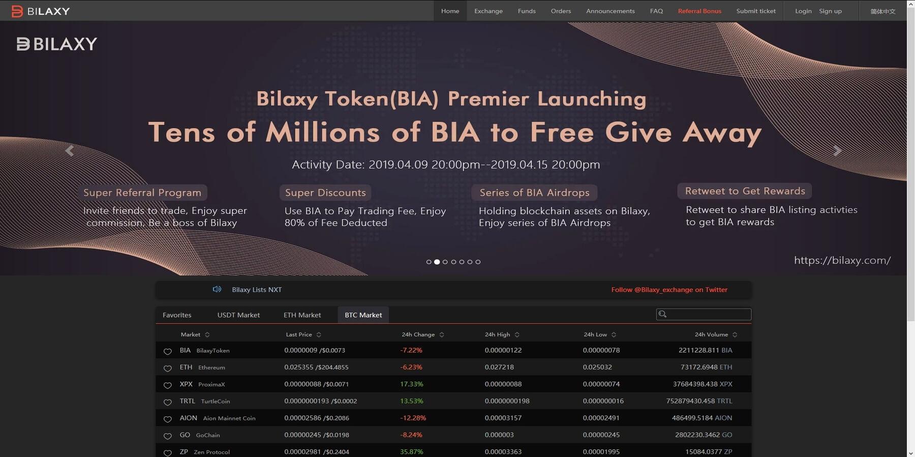 Acheter des cryptomonnaies chez Bilaxy