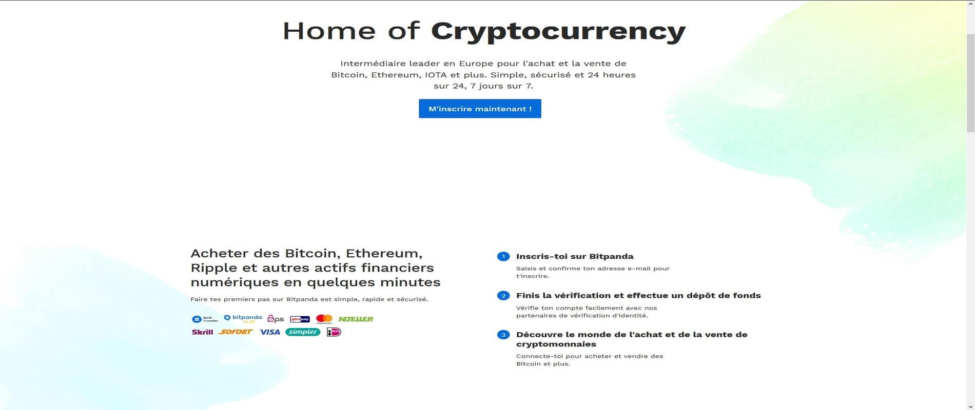 Acheter des cryptomonnaies chez Bitpanda