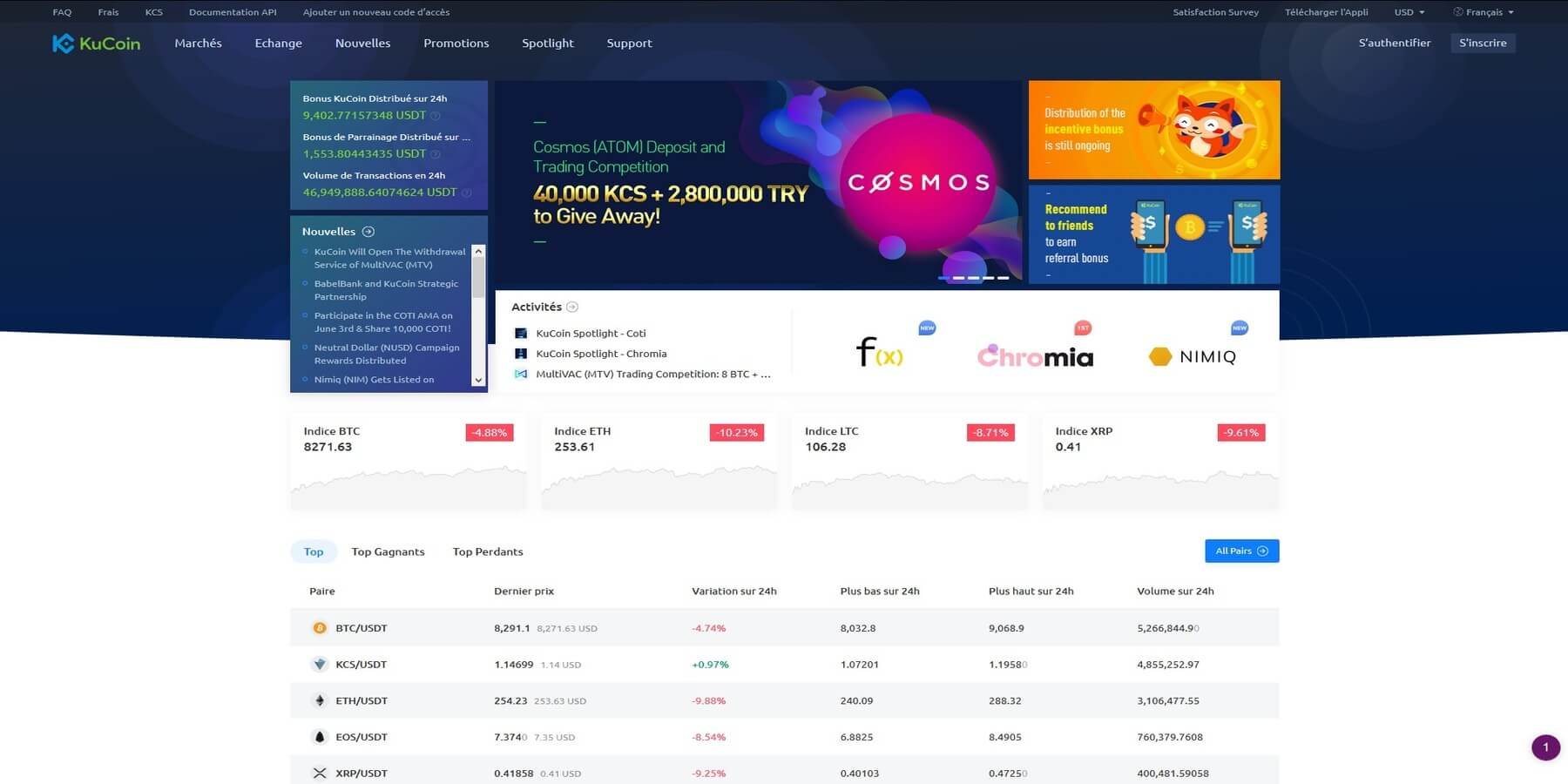 Acheter des cryptomonnaies chez KuCoin