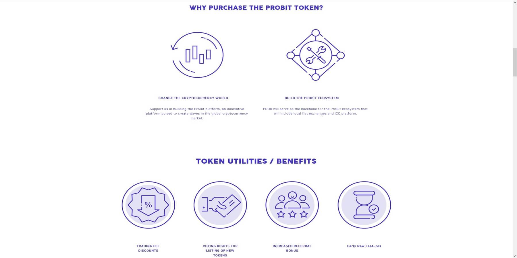 Caratéristiques du token PROB