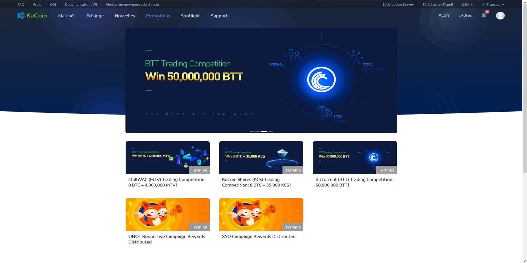 Compétitions de trading chez KuCoin