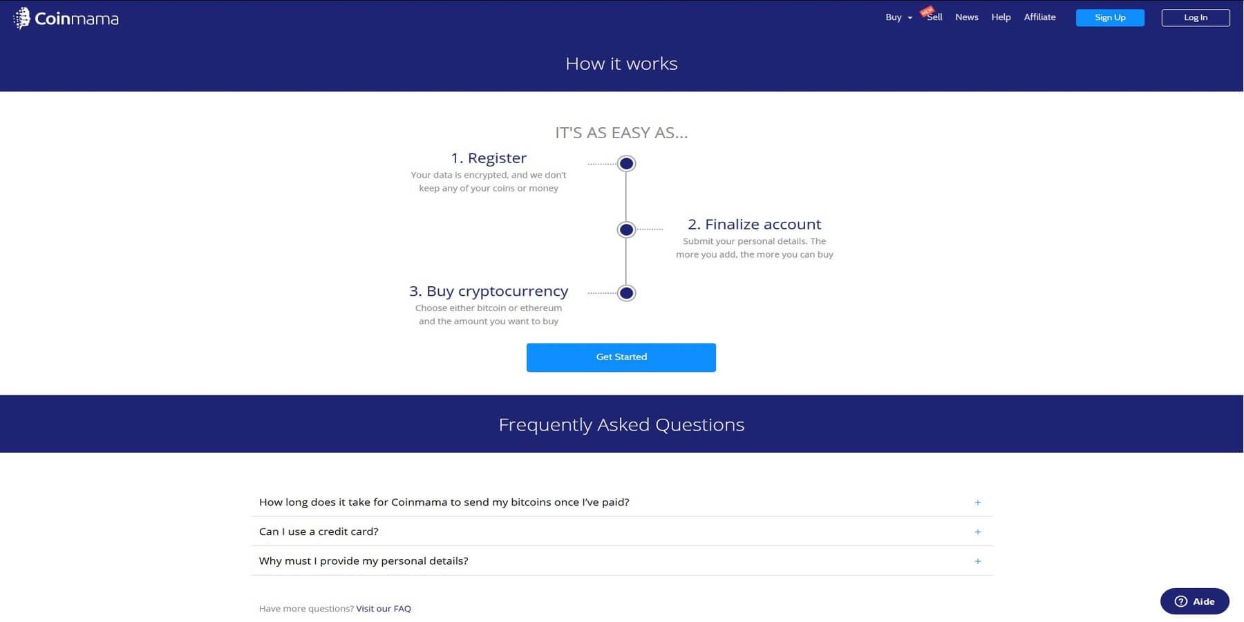 Acheter des cryptomonnaies chez Coinmama bis