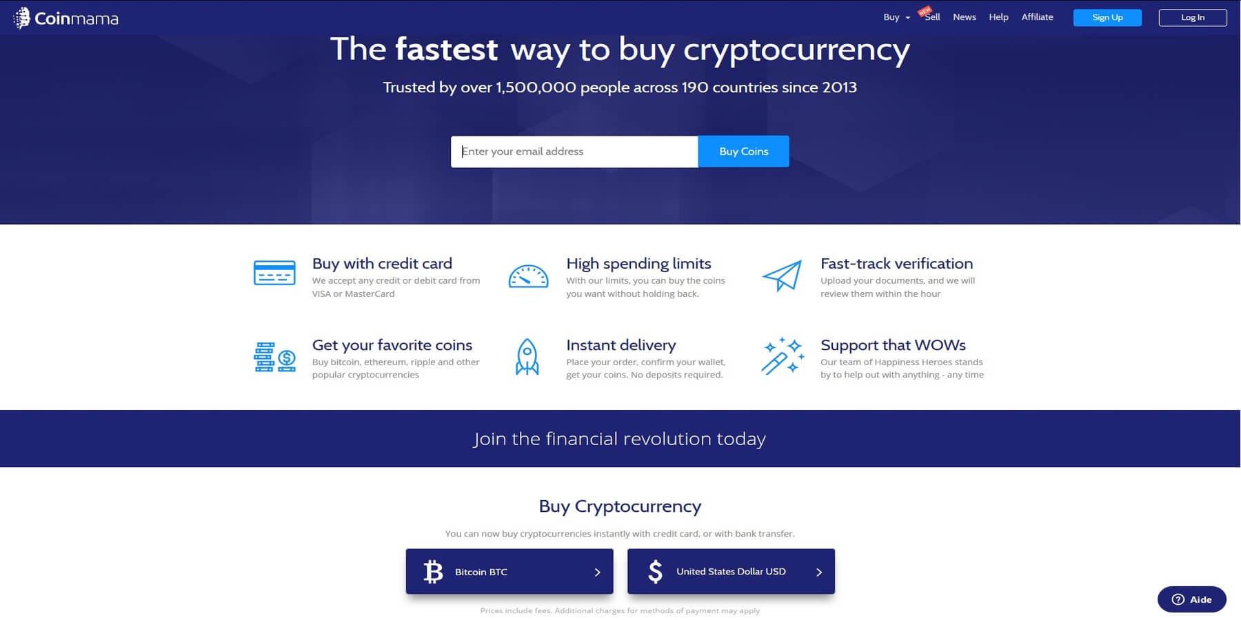 Acheter des cryptomonnaies chez Coinmama