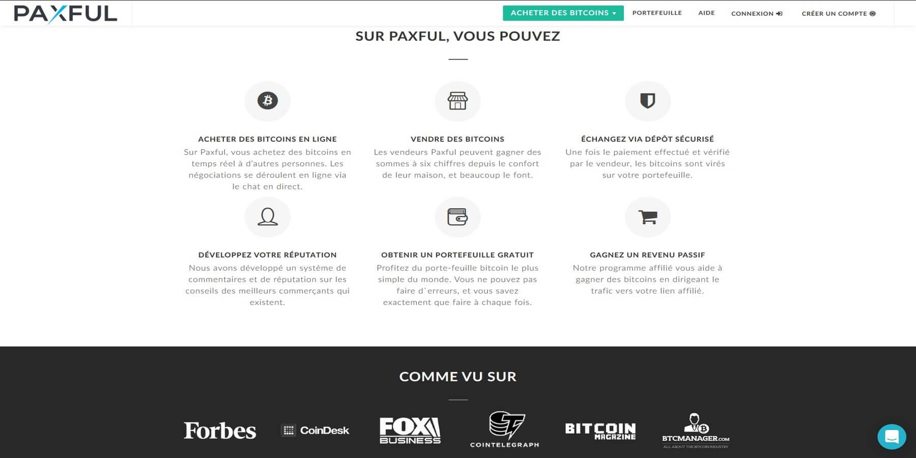 Acheter des Bitcoins chez Paxful