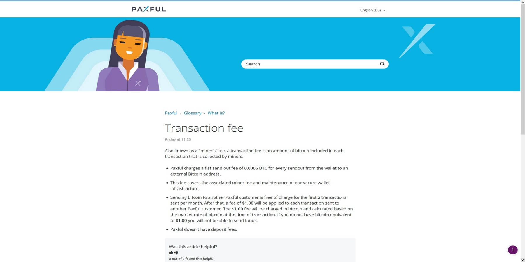 Fees chez Paxful