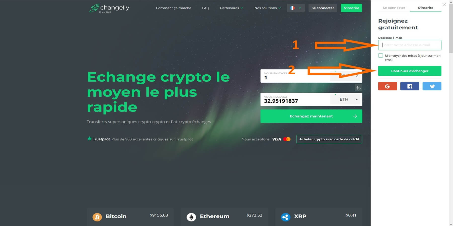 Inscription Changelly