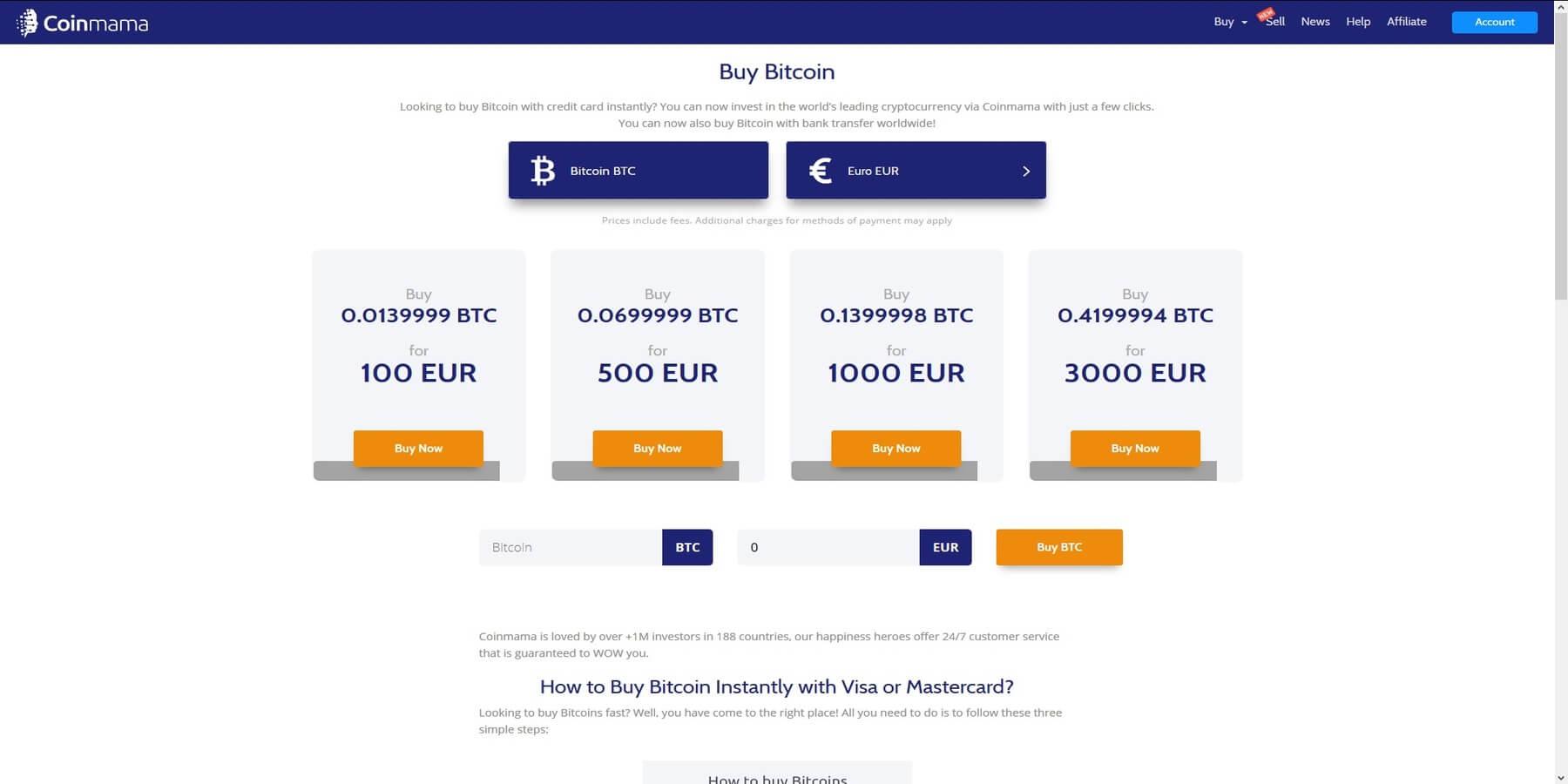 Plateforme de trading Coinmama