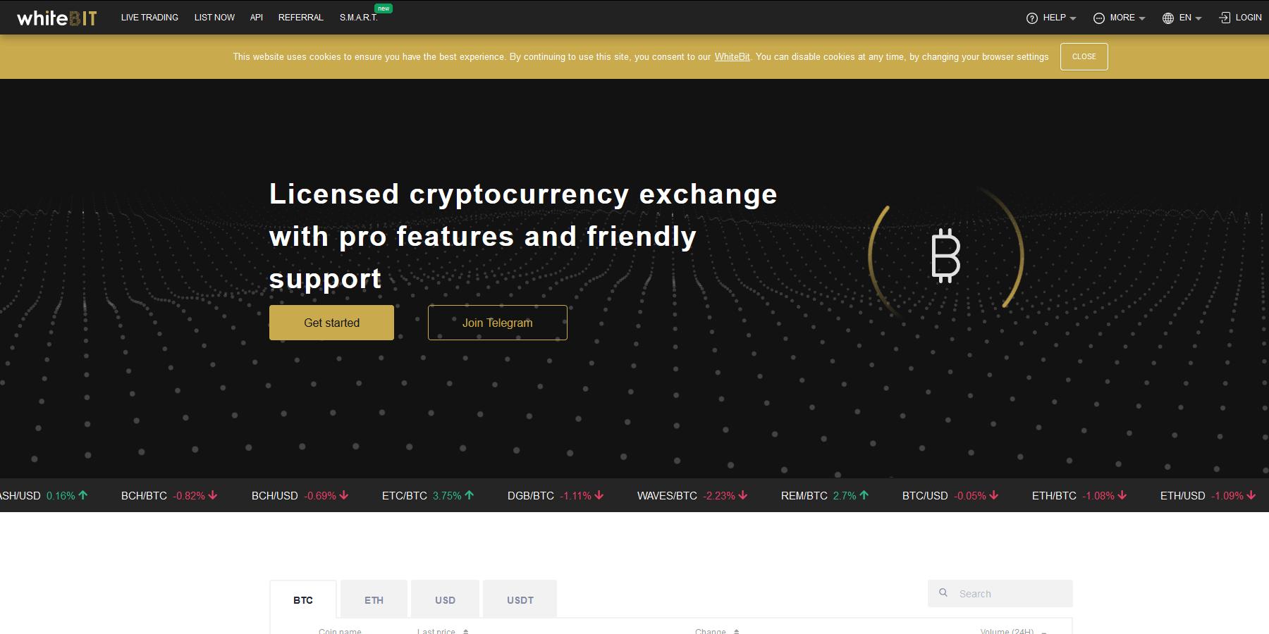 Acheter des cryptomonnaies chez WhiteBIT