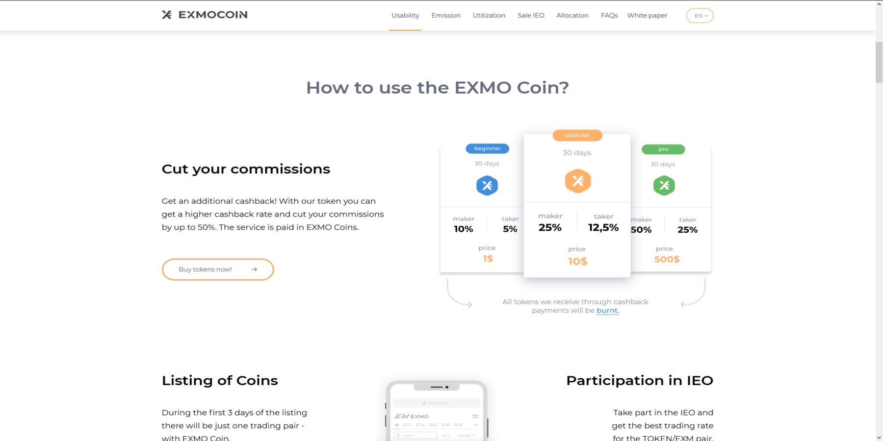Exmo coin IEO
