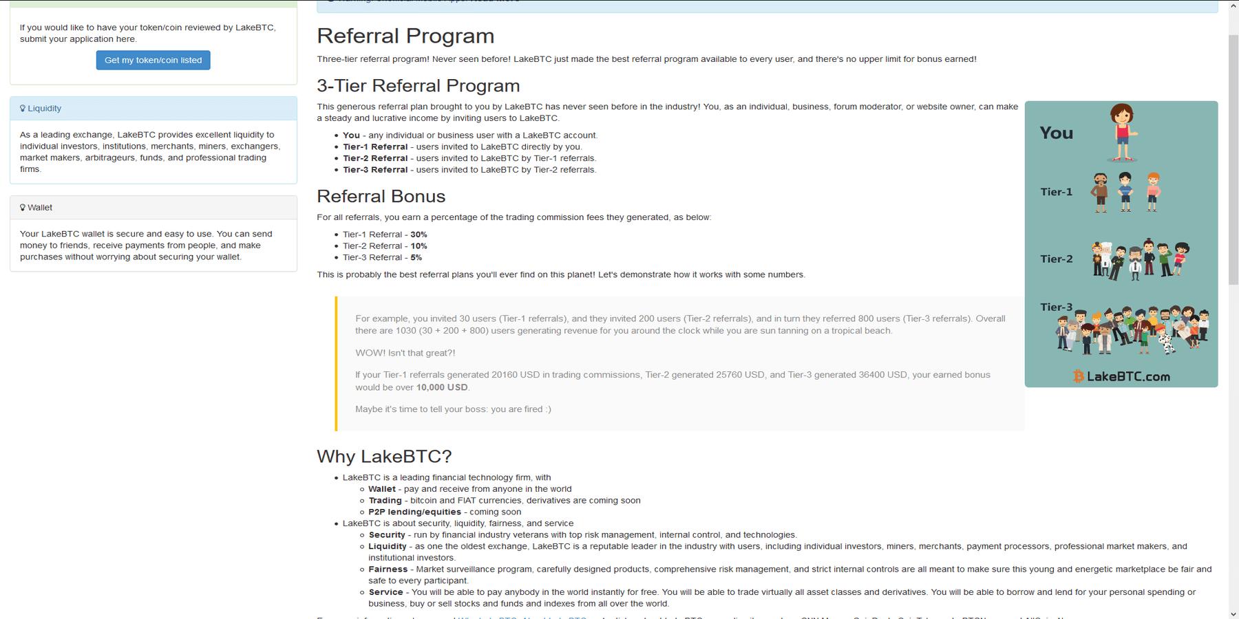 Programme de parrainage LakeBTC