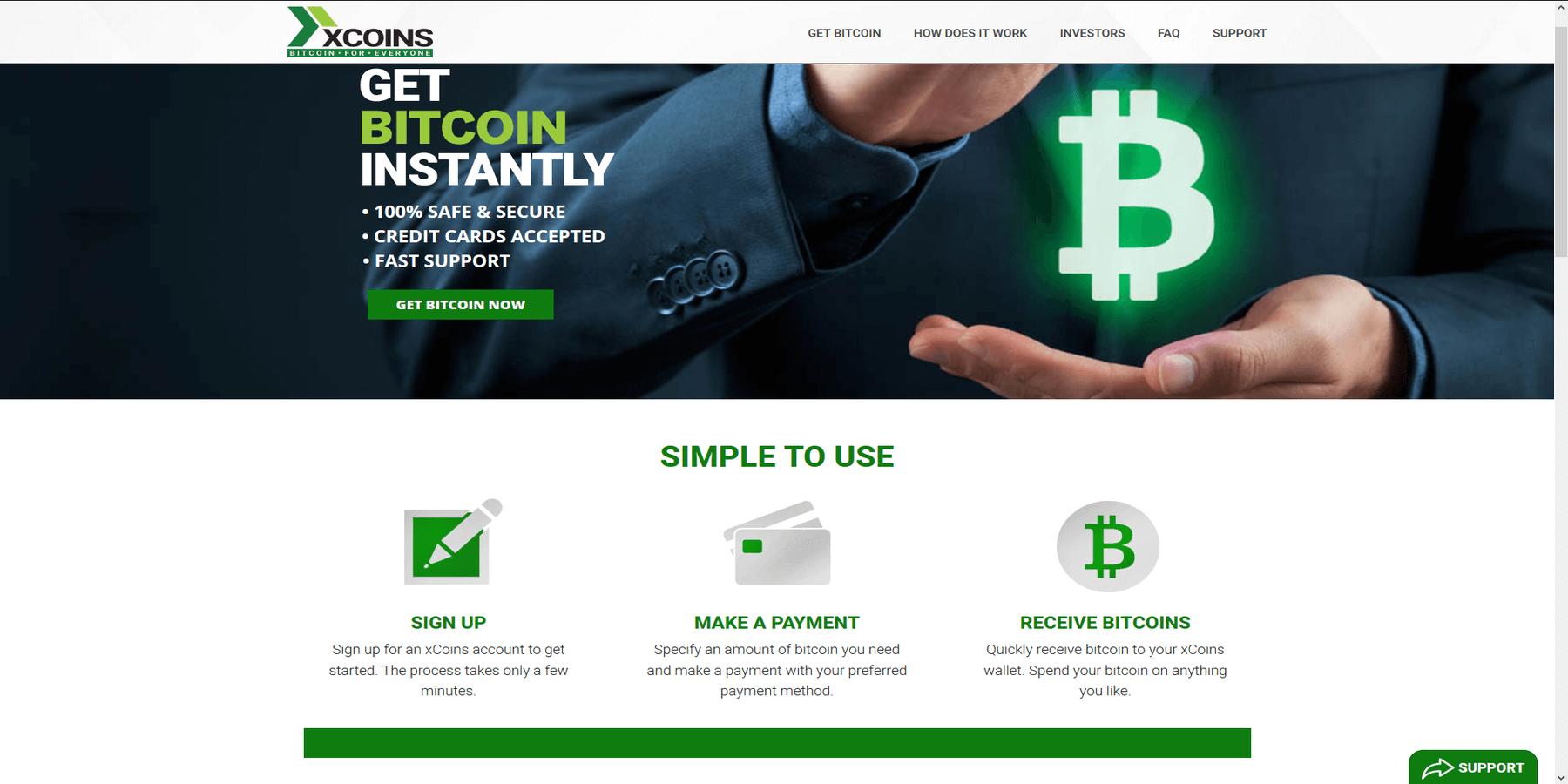Acheter des cryptomonnaies chez Xcoins