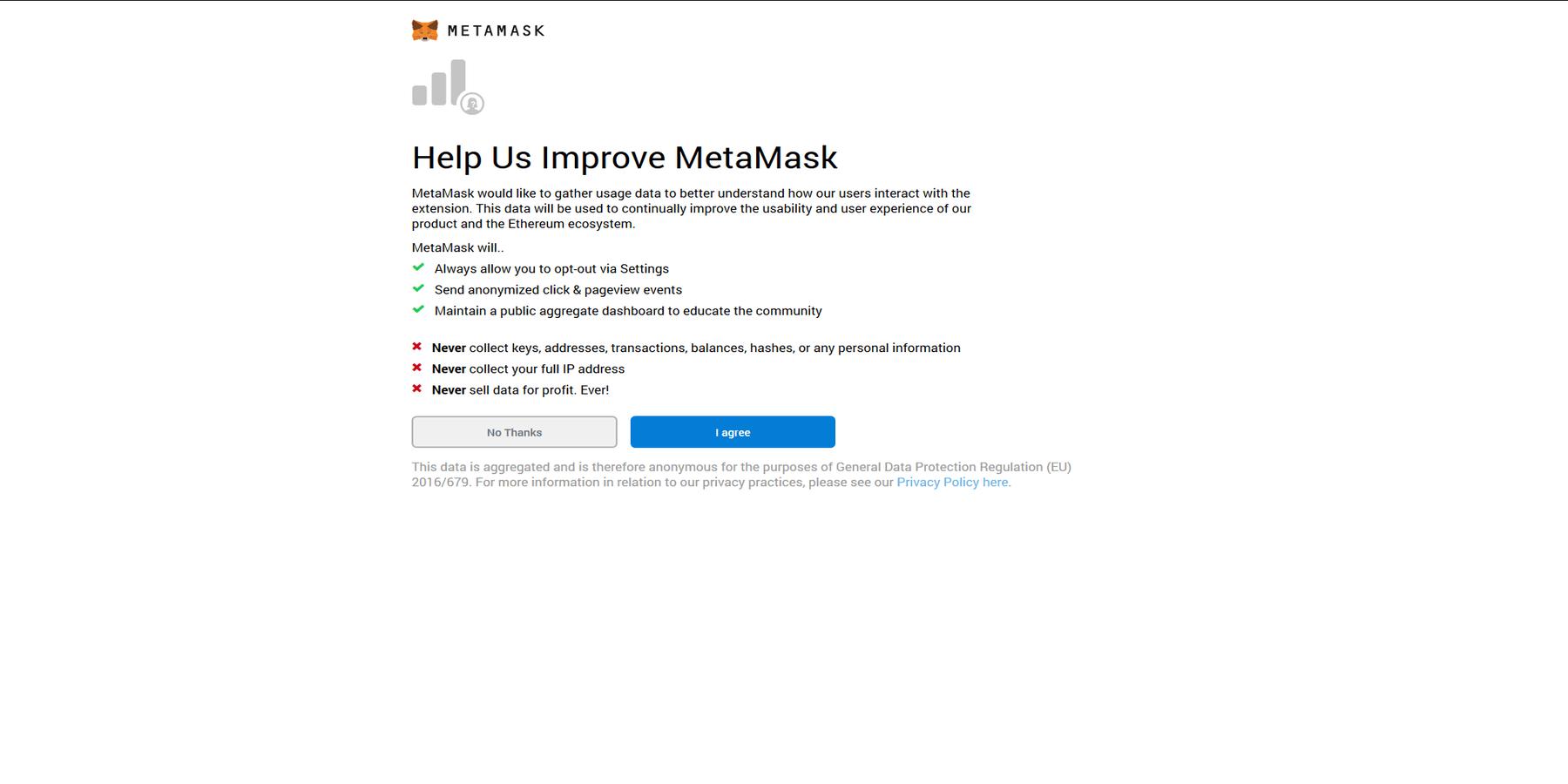 Participer à améliorer MetaMask ou non