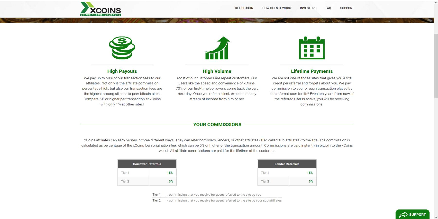 Programme d'affiliation Xcoins