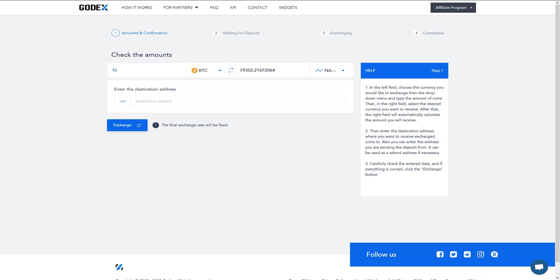Suite trading sur Godex