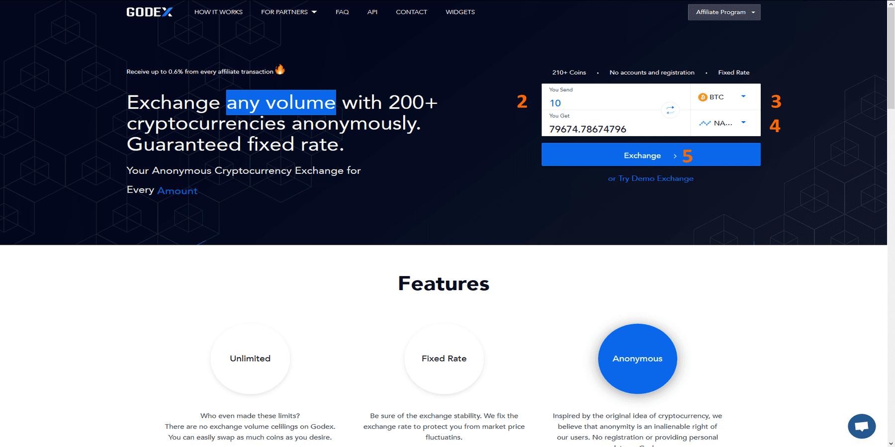 Trading sur Godex